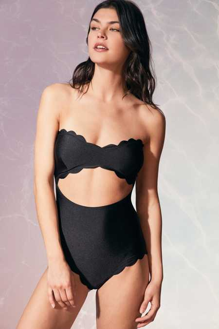 Lolli Shimmer Strapless One-Piece Swimsuit