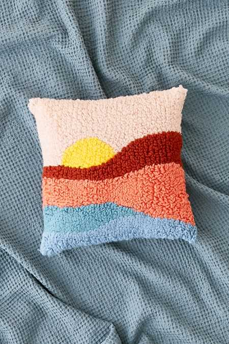 Sunset Shag Throw Pillow