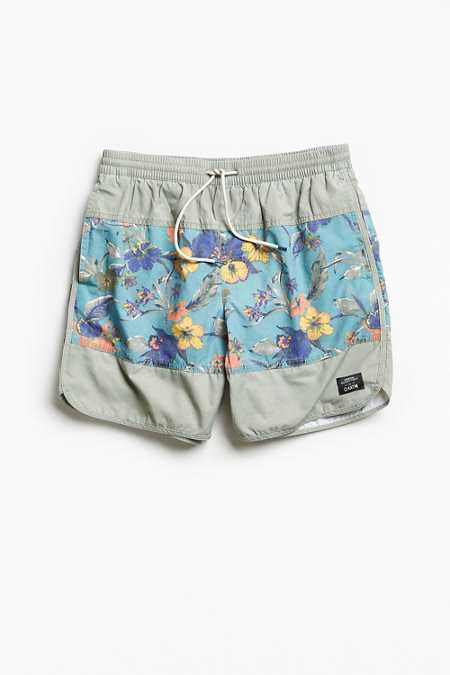 UO X Katin Floral Colorblocked Dolphin Swim Short