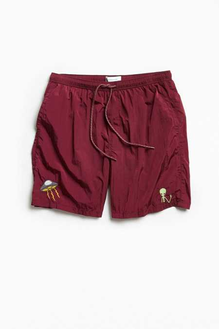 UO Embroidered Slade Crinkled Nylon Short