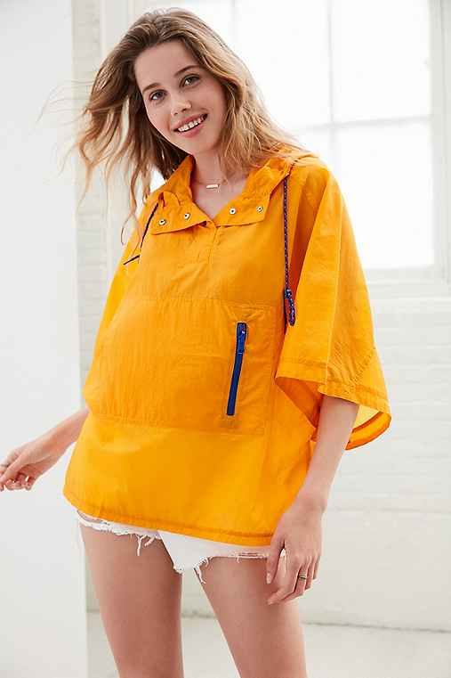 Silence + Noise Popover Poncho Jacket,ORANGE,M/L