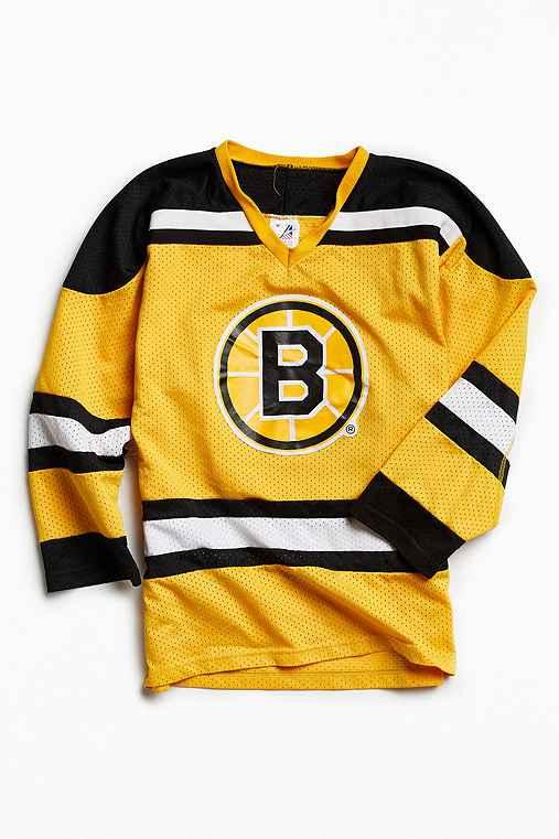 Vintage NHL Boston Bruins Hockey Jersey,YELLOW,M