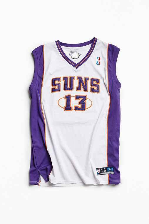 Vintage NBA Phoenix Suns Steve Nash Basketball Jersey,WHITE,XXXL