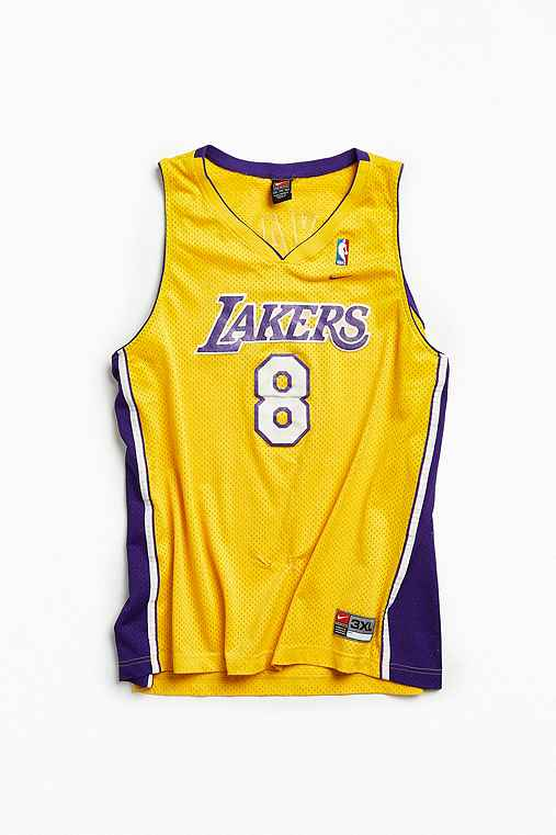 Vintage NBA Los Angeles Lakers Kobe Bryant Basketball Jersey,YELLOW,XXXL