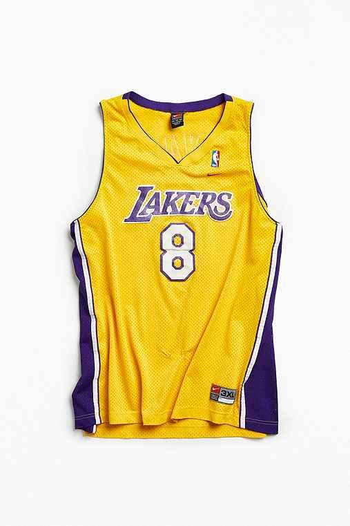 Vintage NBA Los Angeles Lakers Kobe Bryant Basketball Jersey,YELLOW,XXXL