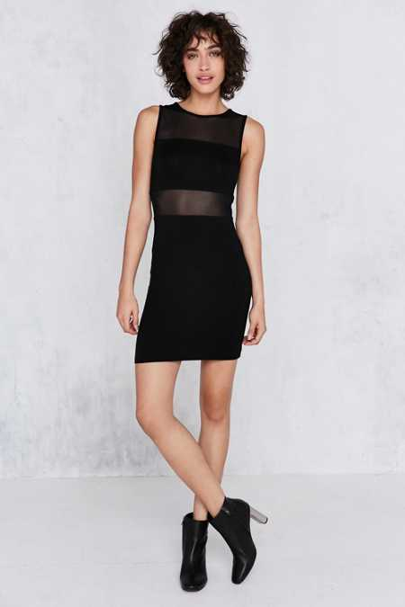 Silence + Noise Mesh Bandeau Bodycon Mini Dress