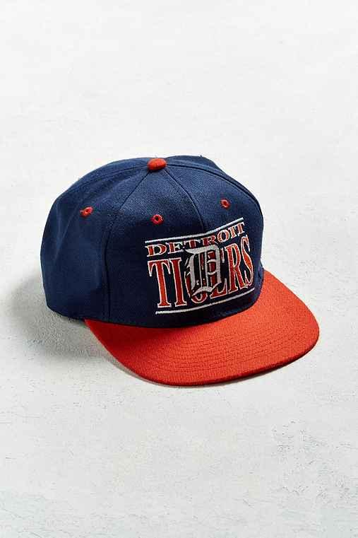 Vintage Detroit Tigers Snapback Hat,BLUE MULTI,ONE SIZE