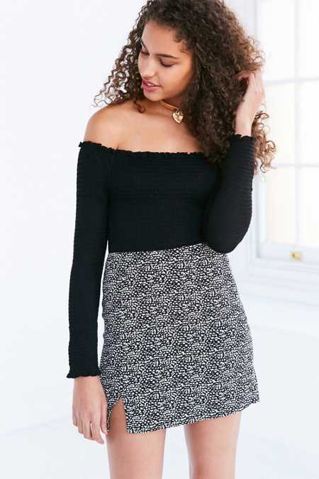 Silence + Noise Milana Side Notch Mini Skirt