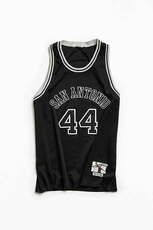 Vintage NBA San Antonio Spurs George Gervin Basketball Jersey,BLACK,XXL