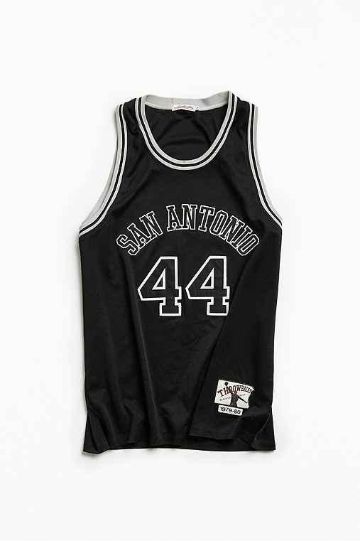 Vintage NBA San Antonio Spurs George Gervin Basketball Jersey,BLACK,XXL