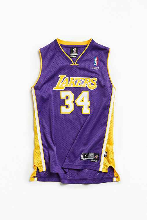 Vintage NBA Los Angeles Lakers Shaquille O'Neal Basketball Jersey,PURPLE,XL