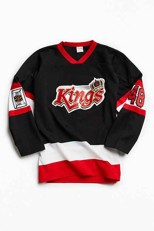 Vintage Kings Pezone Hockey Jersey,BLACK,L