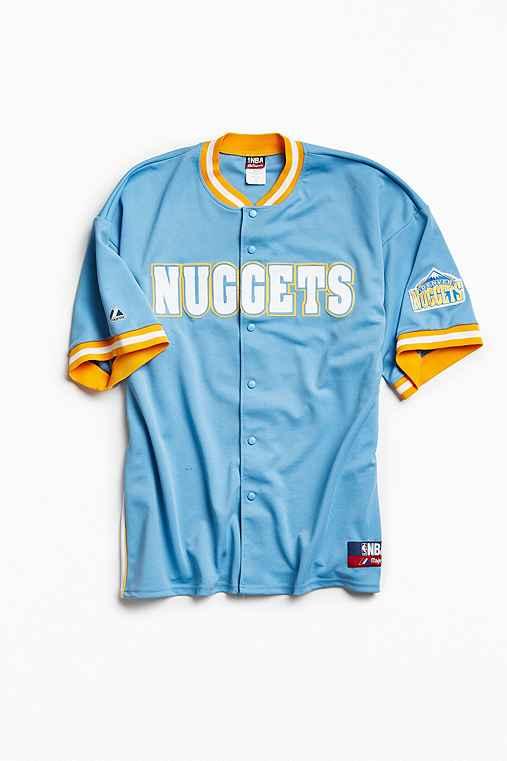 Vintage NBA Denver Nuggets Carmelo Anthony Shooting Shirt,SKY,XXL