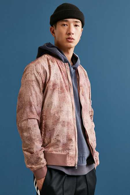 UO Crinkly Nylon Summer Bomber Jacket