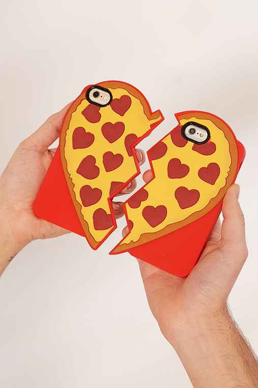 Pizza Besties iPhone 7/6/6s Cases Set,RED,ONE SIZE
