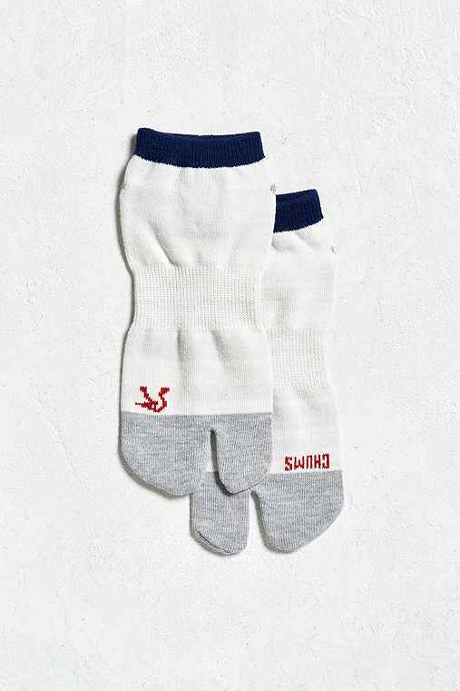 Chums Tabicks Sock,WHITE,ONE SIZE