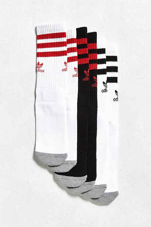 adidas Roller Crew Sock 3-Pack,BLACK,ONE SIZE