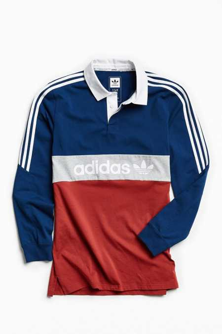 adidas Skateboarding Nautical Rugby Shirt