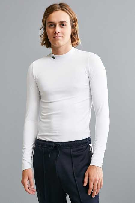 Lacoste Golf Mock Neck Long Sleeve Tee