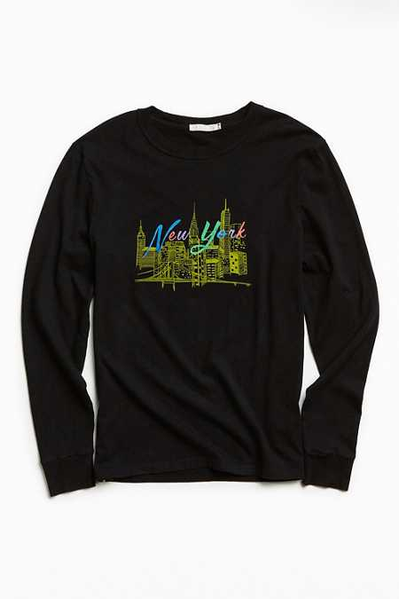 New York Embroidered Long Sleeve Tee
