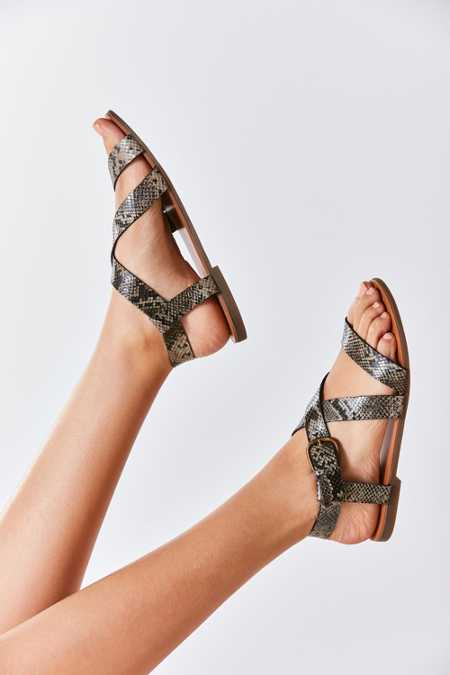 Maddie Faux Python Leather Sandal