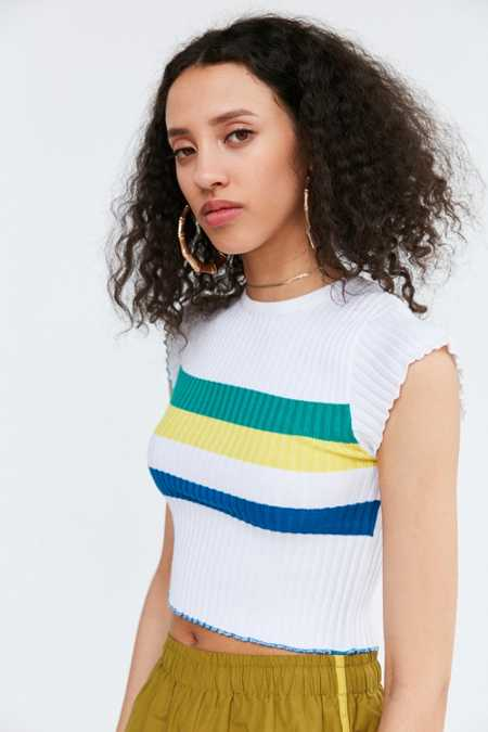 BDG Rainbow Cropped Sweater Tee
