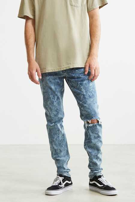 BDG Printed Destructed Skinny Jean