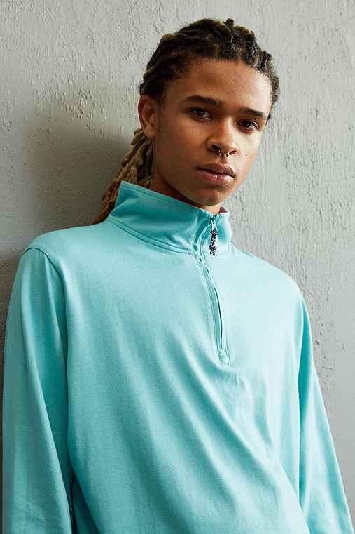 Columbia Harborside Half-Zip Long Sleeve Shirt,TURQUOISE,XL