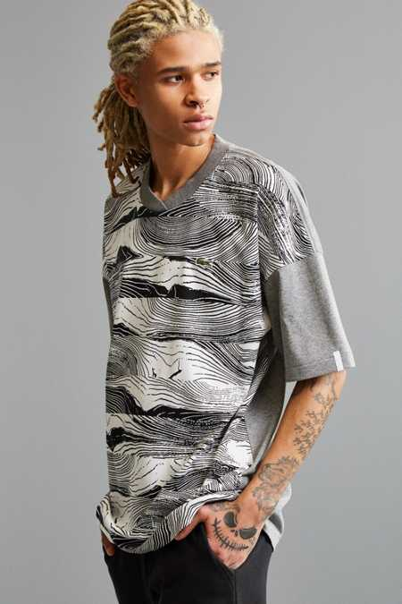 Lacoste L!ve Wood Graphic Tee