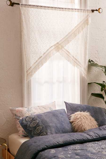 Crochet Fringe Window Valance