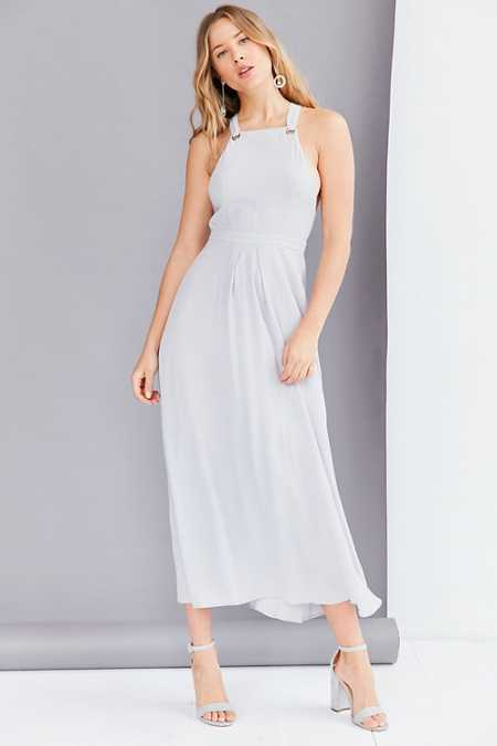 Glamorous Square Neck Apron Maxi Dress