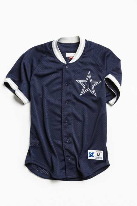 Mitchell & Ness Dallas Cowboys Pro Mesh Button Front Jersey