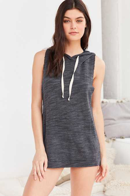 Project Social T X Out From Under Sleeveless Hoodie Sweatshirt