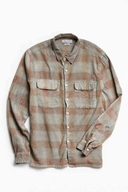 UO Eliso Overdyed Flannel Button-Down Shirt