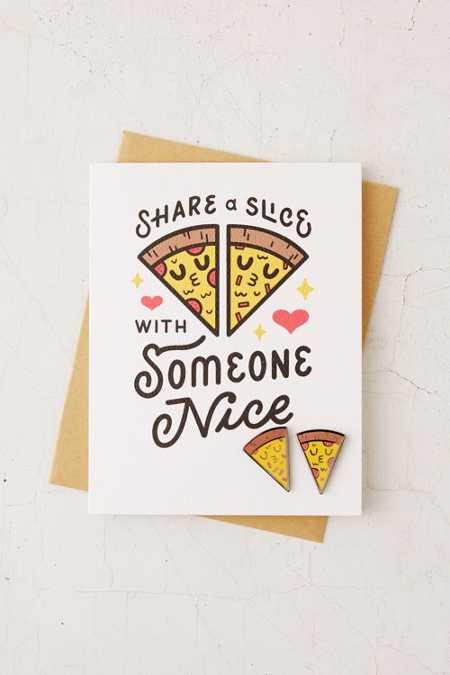 Valley Cruise Press Love Pizza Pin + Greeting Card