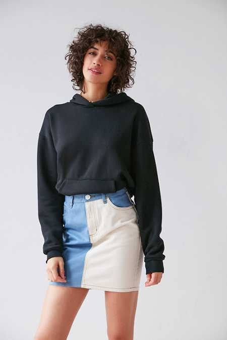 BDG Two-Tone Pencil Mini Skirt