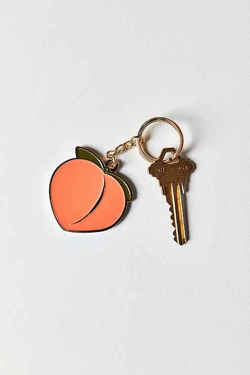VERAMEAT Peach Keychain,PINK,ONE SIZE