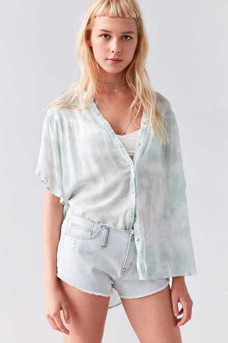 Ecote Desiree Button-Front Blouse