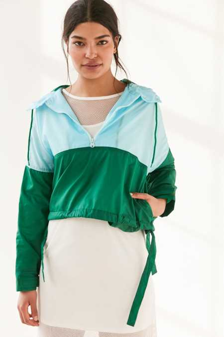 Without Walls Mia Color Block Parachute Half-Zip Jacket