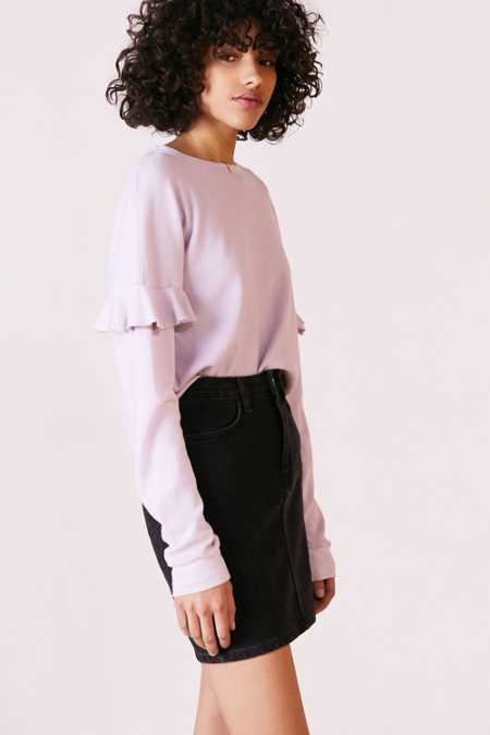 Truly Madly Deeply Kimberly Ruffle Long-Sleeve Thermal Tee