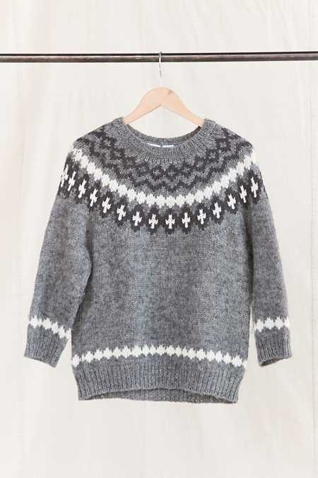 Vintage Nordic Grey Sweater