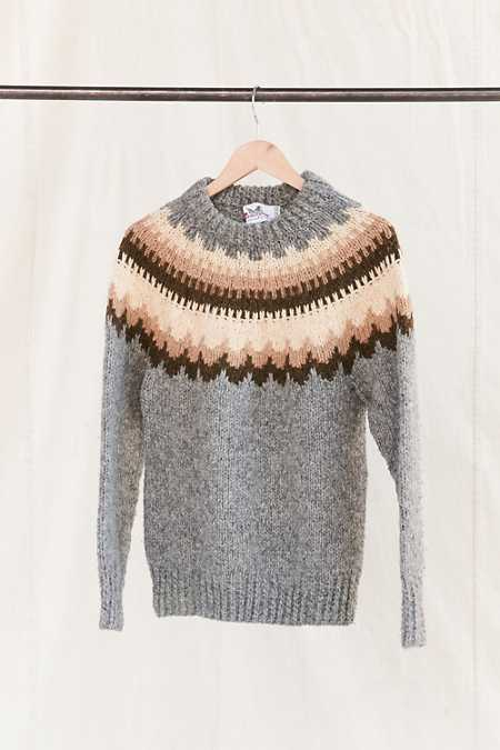 Vintage Nordic Grey/Tan Sweater