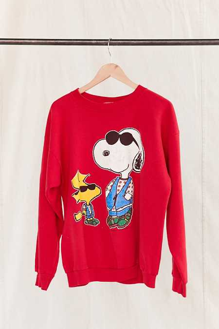Vintage Snoopy Red Sweatshirt