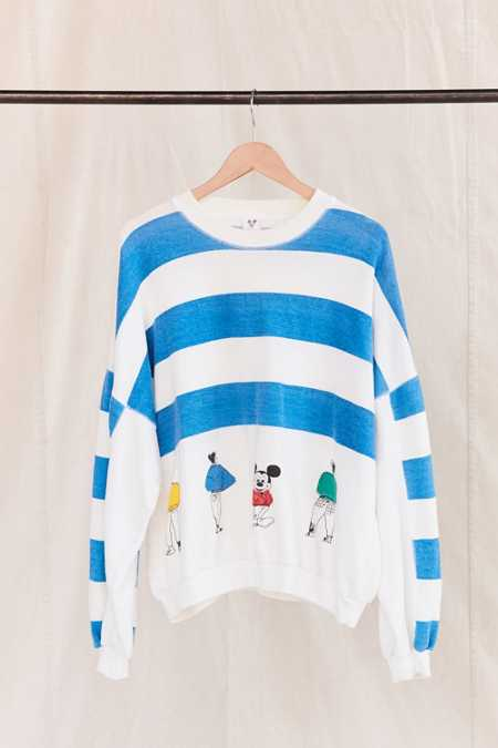 Vintage Mickey Striped Sweatshirt