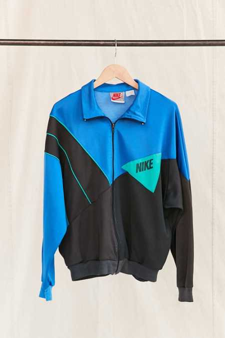 Vintage Nike Blue Color Block Track Jacket