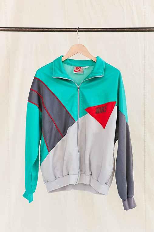 Vintage Nike Teal Color Block Track Jacket,ASSORTED,ONE SIZE