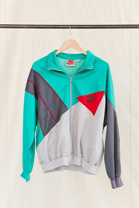 Vintage Nike Teal Color Block Track Jacket
