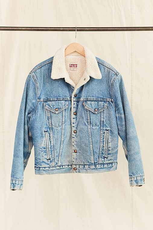 Vintage Levi's Medium Wash Sherpa Jacket,ASSORTED,ONE SIZE
