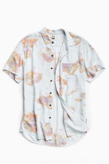 Insight Trigger Rayon Short Sleeve Button-Down Shirt
