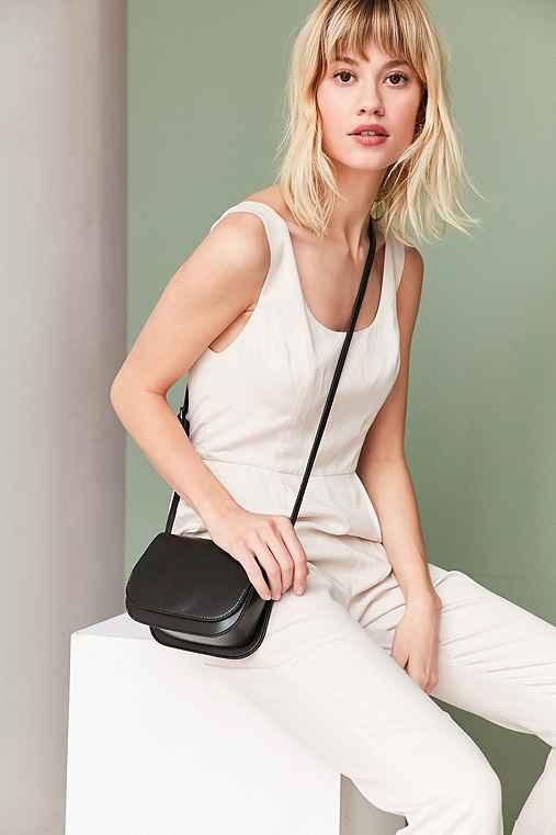 Sheryl Saddle Crossbody Bag,BLACK,ONE SIZE